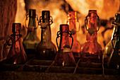 Alte Bierflaschen mit Bügelverschluss