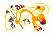 Beer flavourings for Pale Ale – geraniums, caramel, lemon, forest honey, pears, quince jelly