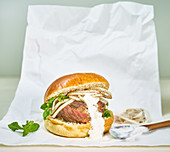 Takeout Lamb Burger