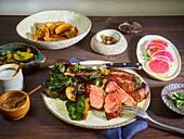 Cooked Steak Dinner