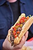 Coachella beef sandwich with jalapeno