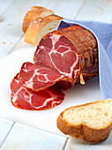 Soppressata calabra (raw ham from Calabria, Italy)