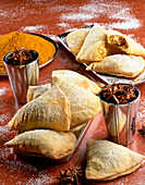 Sweet dried fruit pastry pockets
