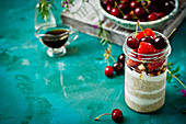 Porridge with fresh summer fruits