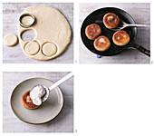 Preparing eggs benedict