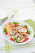 Turkey and tuna roulade