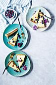 'Top deck' custard tart