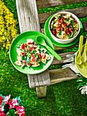 Nudelsalat mit Speck fürs Picknick