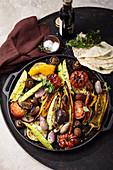 Italienische Gemüse-Antipasti aus dem Ofen