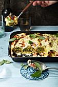 Gemüse-Crespelle mit Ricotta-Parmesan-Creme