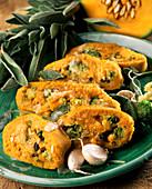 Kürbis-Broccoli-Rolle mit Käse