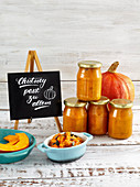 Pumpkin chutney with raisins