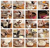 Dreischichtige Schokoladentorte zubereiten