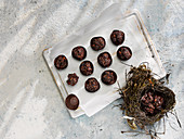 Oaty chocolate bonbons