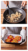 Preparing stuffed peppers with couscous