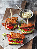 Hearty Poor Knight 'BLT' sandwiches