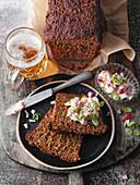 Klever black bread with obazda