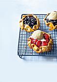Mini berry galettes