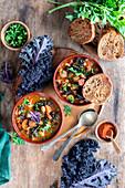 Kale sausage bean soup