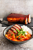 Kimchi bowl with pork belly