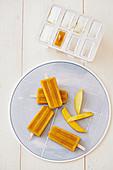 Mango Chia Popsicles