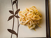 Pickled Chinese cabbage with ginger and sambal oelek