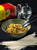 Dan-Dan-Mian – Chinese egg noodles in a minced-meat and chilli oil sauce