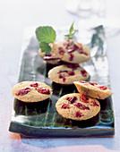 Green tea cookies with cranberries