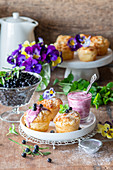 Blueberry cottage cheese cakes