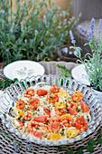 Italian fennel salad with oranges and prawns