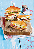 Sandwiches with roast beef and eggs (football evening)