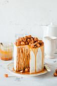 Caramel vertical cake