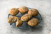 Gluten-free buckwheat and chia rolls