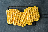 Gluten-free vegan tofu waffles