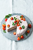Gluten-free strawberry cream cake