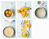 Oriental orange cake being made