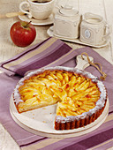 Apple cake with a quark-oil base