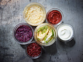 Different fermented foods