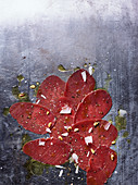 Venison veal carpaccio with parmesan and parsley oil
