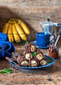 Crepe-Röllchen mit Bananen