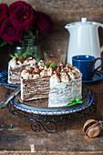 Crepes cake tiramisu
