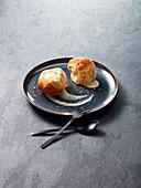 Hazelnut Buchteln (baked, sweet yeast dumplings)