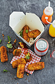 Indonesian party croquettes with coriander to go