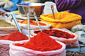 An Indian spice market