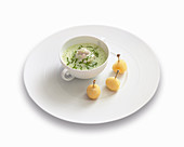 Frog's legs velouté with watercress