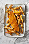 Gesunde Fish and Chips mit Pastinaken