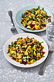 Fruity turmeric cauliflower salad with pomegranate seeds