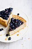 Vegan almond 'cheesecake'