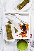 Power energy balls with moringa, dried apricots and goji berries