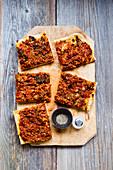 Wirsingkuchen mit Linsen (vegan)